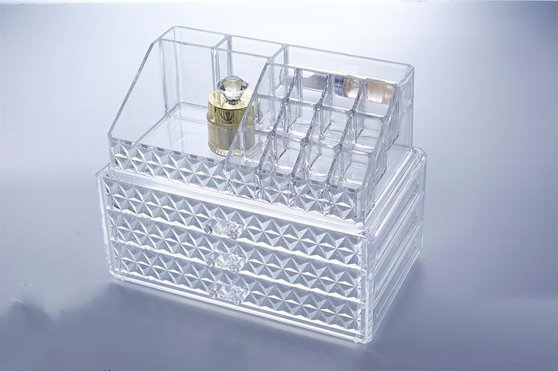 SF-1304D炫彩透明水晶收纳盒