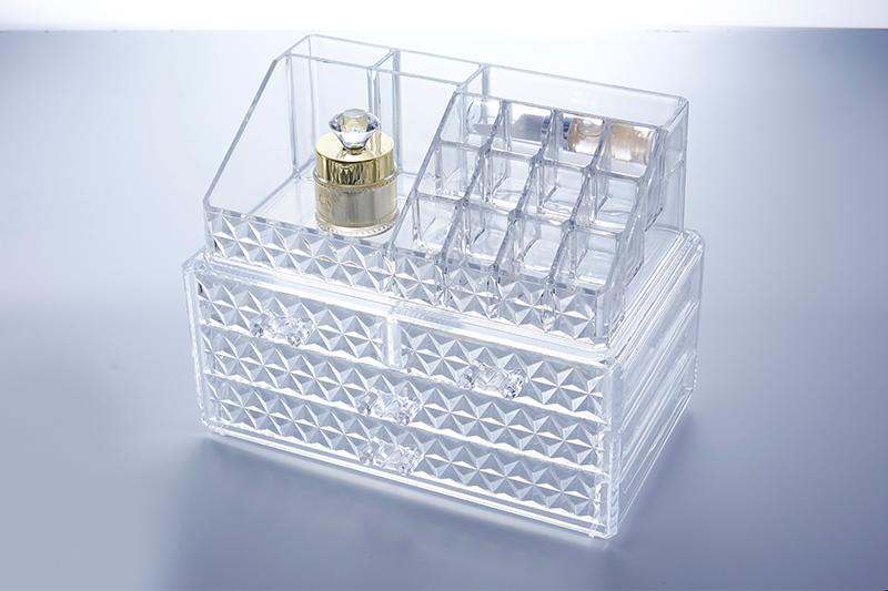 SF-1155D炫彩透明水晶收纳盒