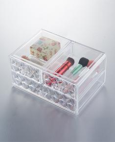 炫彩透明水晶收纳盒