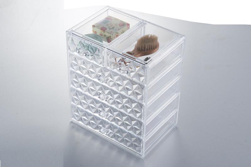 SF-1549-6D炫彩透明水晶收纳盒